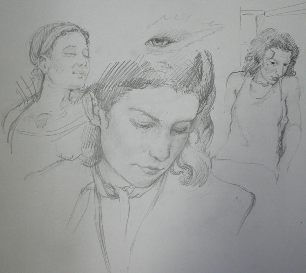 "figure study for ""Backstage Steps"""