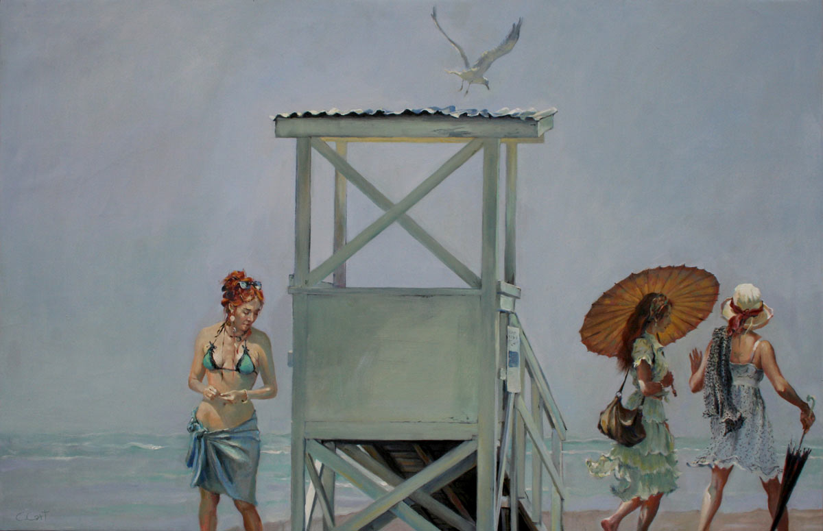 oil painting, Popham Beach