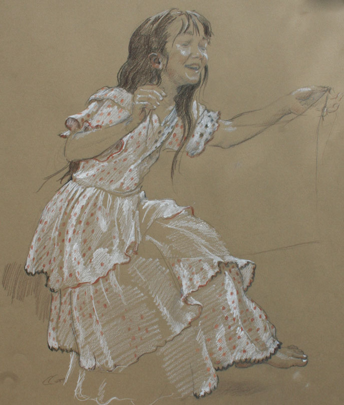 mural study, Dance of Two Cultures