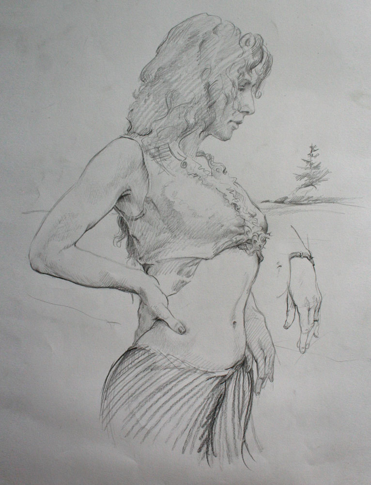study for belly dancer