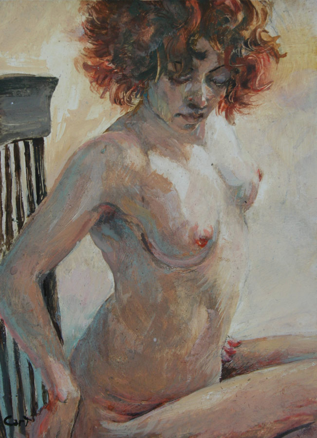 """""""Red"""", a small egg tempera"""