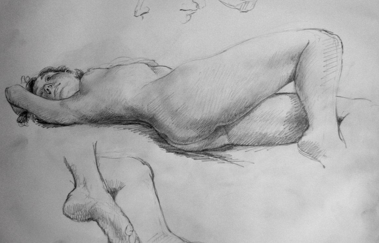 reclining nude, study