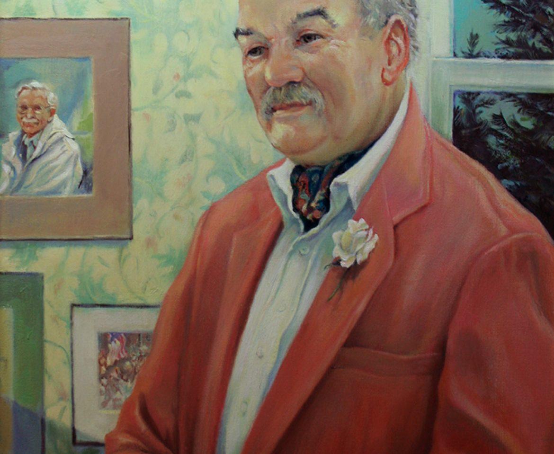 Allen Strictland, Memorial Portrait for Hubbard Free Library