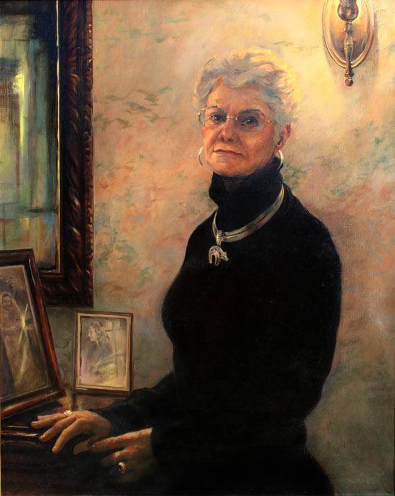 Oil Portrait of Judy Wathen, commissioned by Daniel Wathen