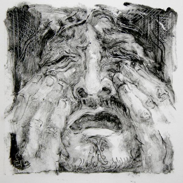 Crying Man, monotype
