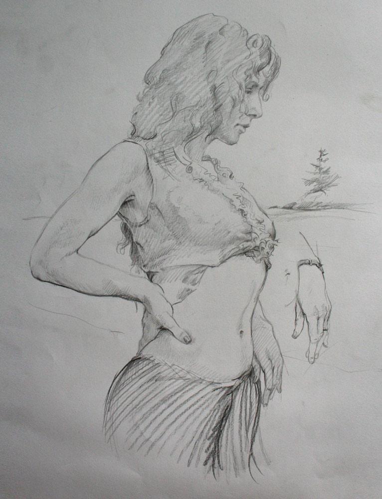 study for belly dancer