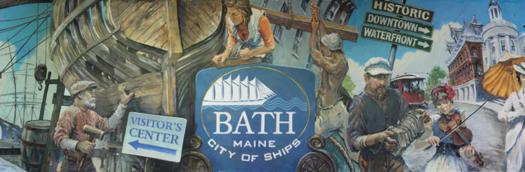 City of Ships, mural, Bath Maine