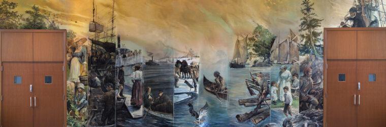 Kennebec Mural, full