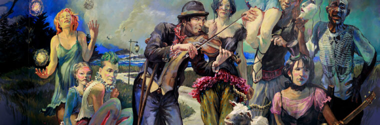 Entertainers Beyond the Sea, a mural by Christopher Cart