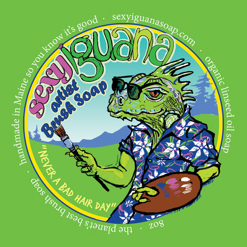 Sexy Iguana Brush Soap