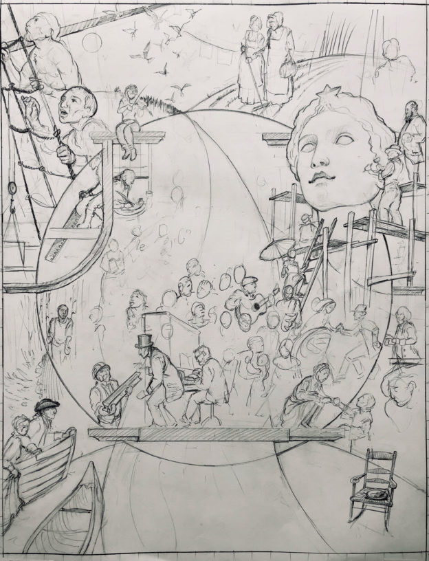 mural sketch