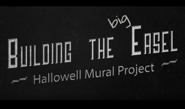 video about building the mural temp easel.