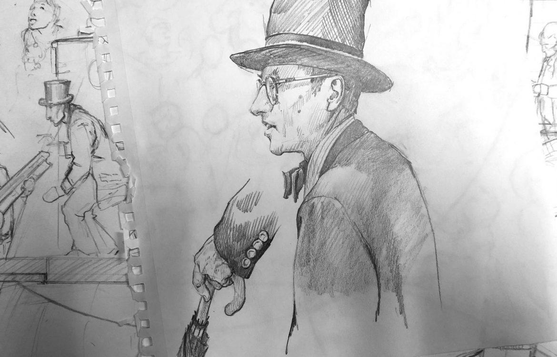 Hallowell Mural, studies