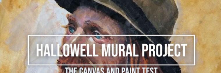 Hallowell Mural: Paint Test