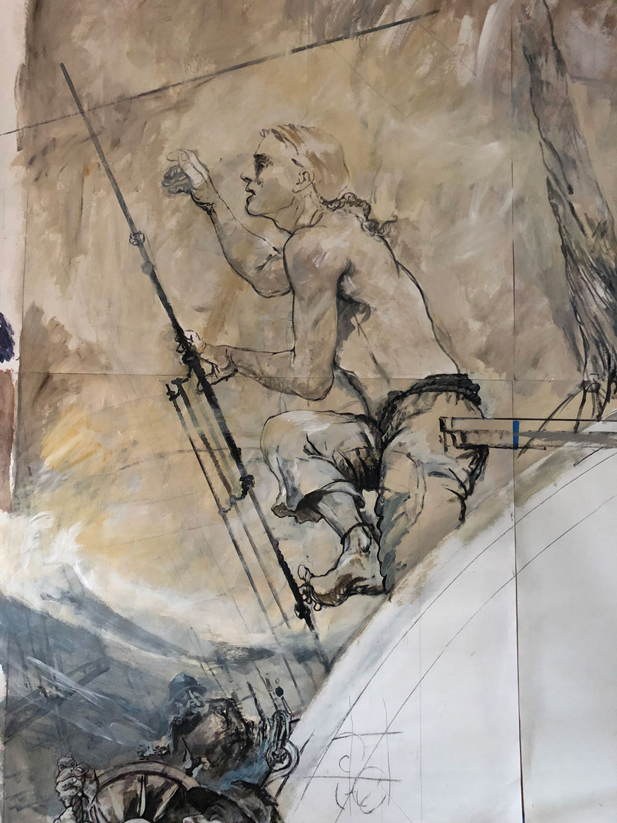 seaman on mural