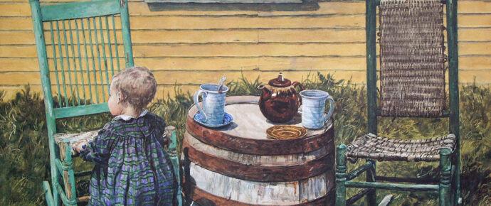 Spring Tea, watercolor, 1994