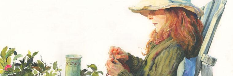 Last Rose, watercolor 2020